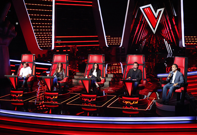 MBC1 & MBC MASR The Voice S4 Launch Press Conf- Four Coaches with Mazen Hayek